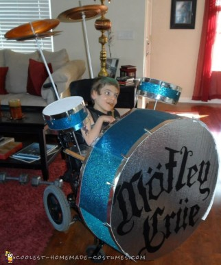 Awesome Homemade Drummer Wheelchair Costume