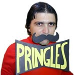 Pringles Man Homemade Costume Idea
