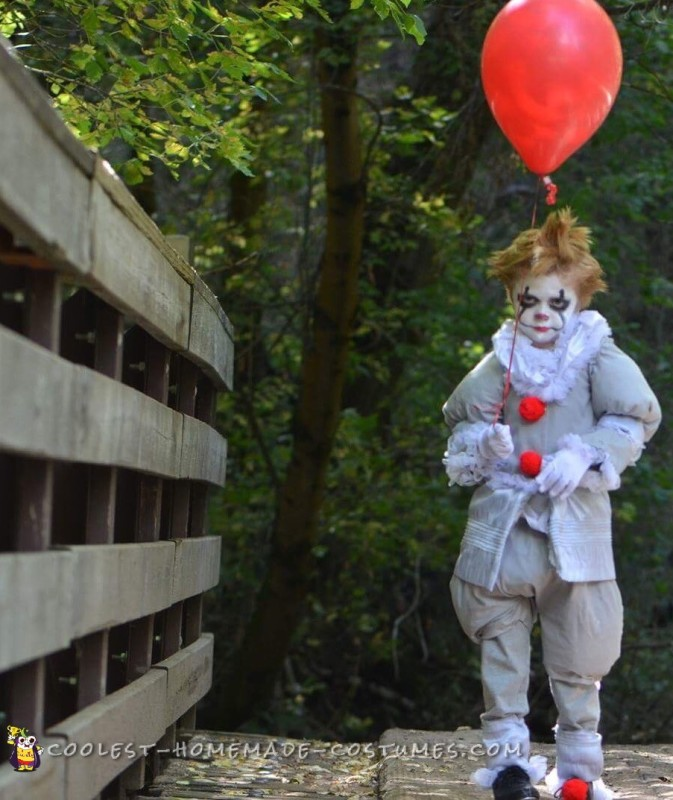 Scary Homemade It Toddler Costume