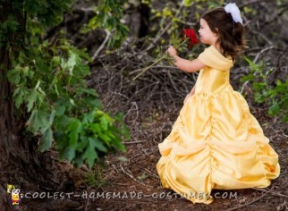 Stunning DIY Toddler Disney Halloween costume: The Yellow Belle