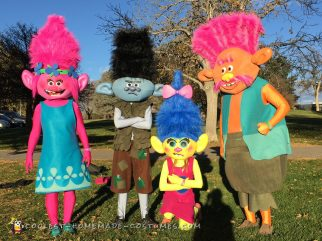 Coolest Trolls Family Costume - Awesome Trolls Costumes