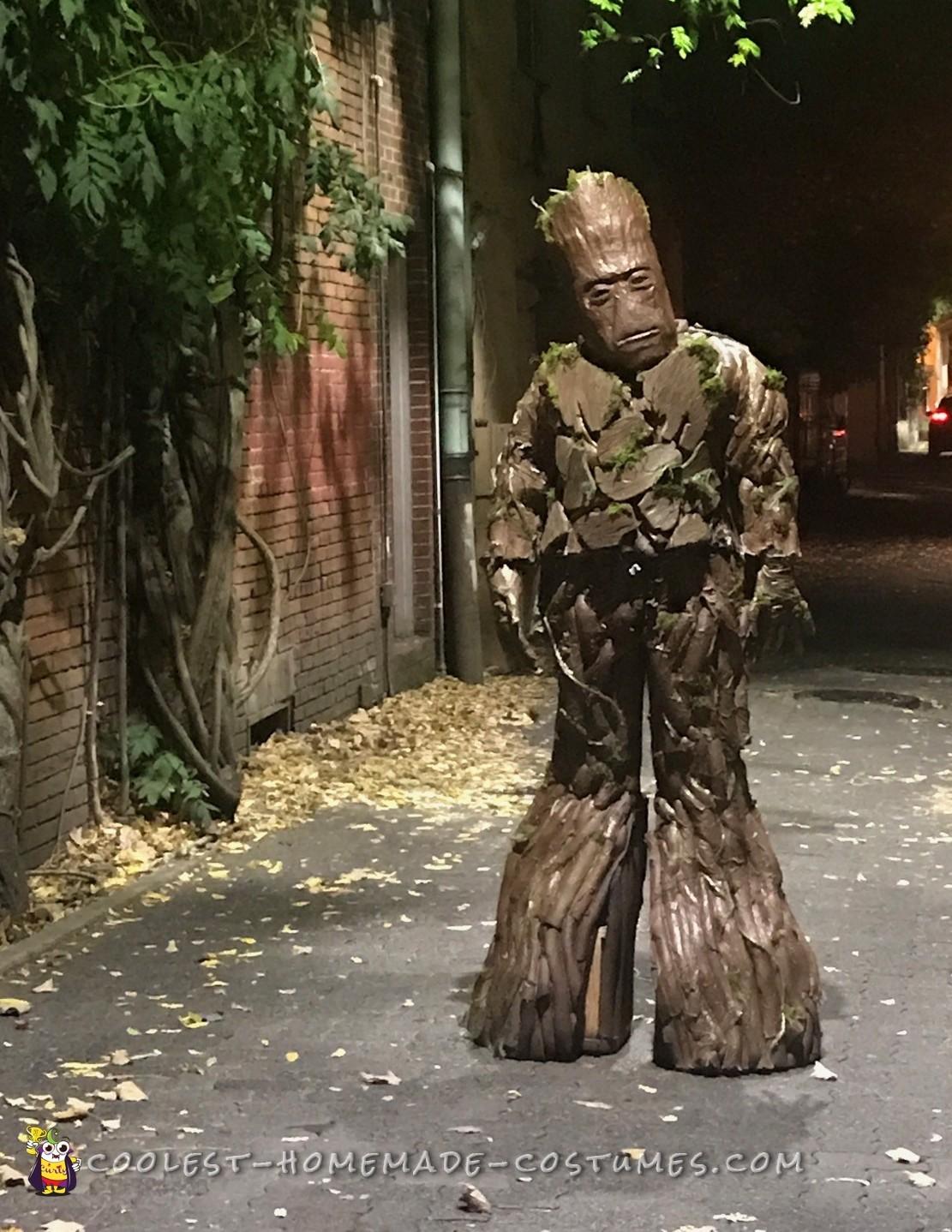 Homemade Groot Costume