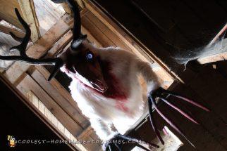 Spooky Homemade Costume - White Wendigo Forest Spirit