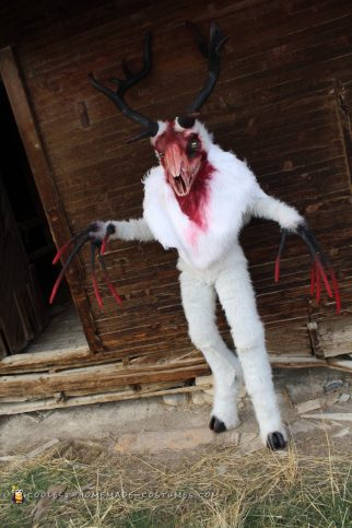 Spooky Homemade Costume - White Wendigo Forest Spirit