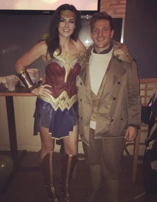 The Up-cycled WonderWoman and her Captain Trevor
