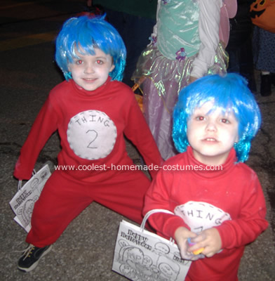 Cat in the Hat Thing 1 and 2 Costume