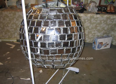 Homemade Disco Ball and Dancer Couple Costume