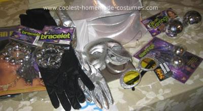 Homemade Disco Ball and Dancer Couple Costume