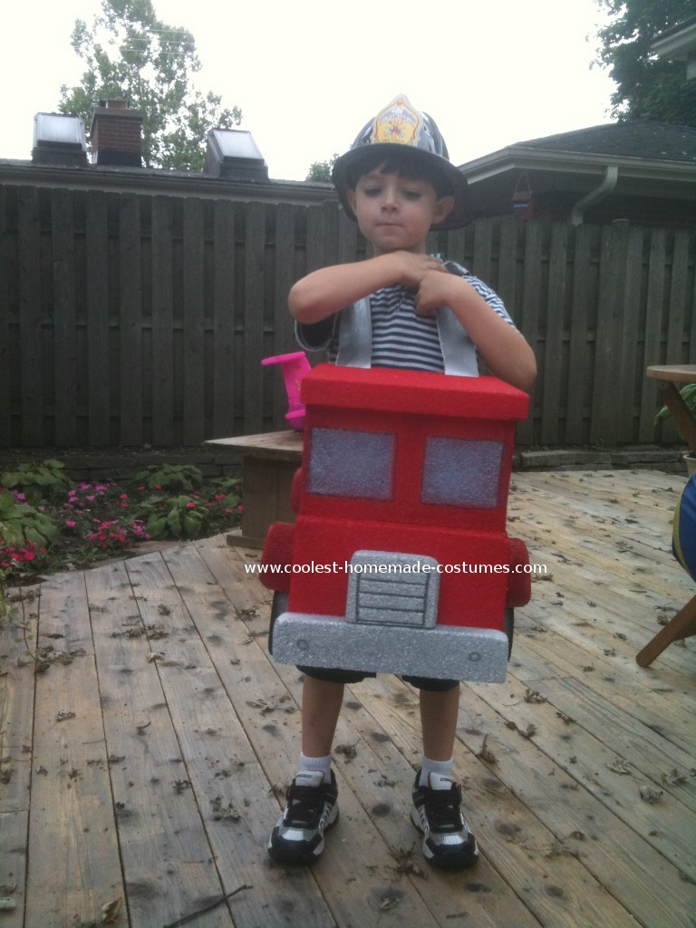 Fireman and fire truck costume