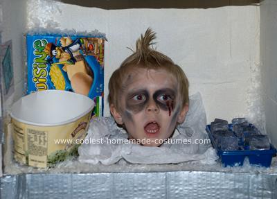 Head in Freezer Costume