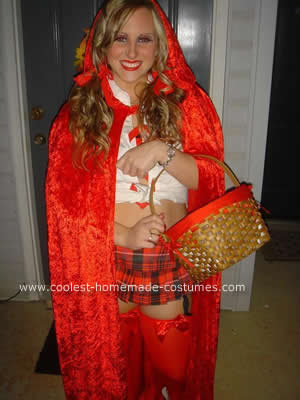 Little Riding Hood and the Big Bad Wolf Couple Costume