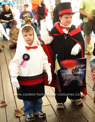 Magician and Rabbit in Hat Costumes