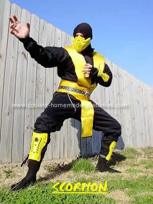 Coolest Homemade Mortal Kombat Scorpion Costume