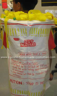 Noodle Cup Halloween Costume