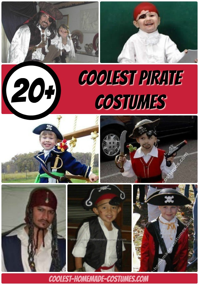 20+ Cool Homemade Pirate Costume Ideas for Halloween