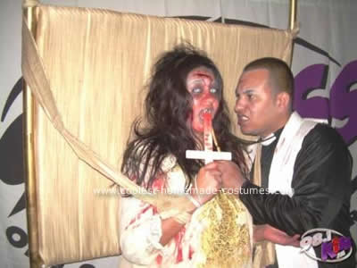 Reagan Mcneil and Priest Couple Costume