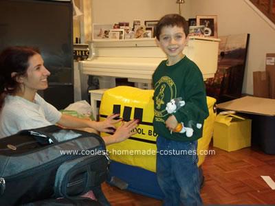 Coolest Homemade Yellow School Bus Halloween Costume