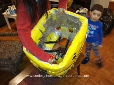 Coolest Homemade Yellow School Bus Halloween Costume