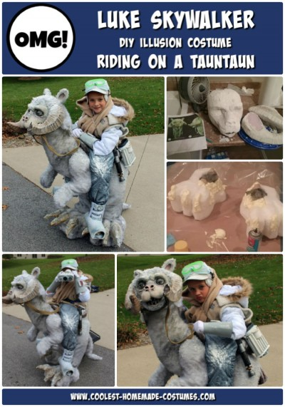 Coolest Star Wars Halloween Costume Ever! Luke Skywalker Riding on Tauntaun