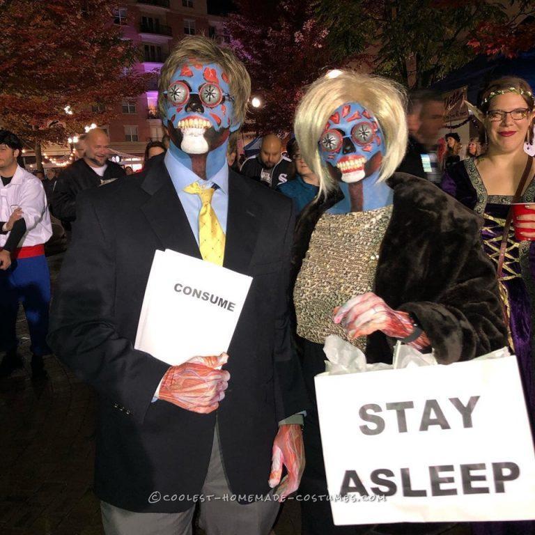 Easy They Live Aliens Couple Costume