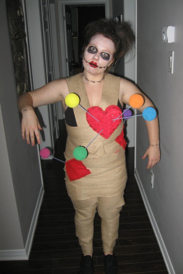 Last minute Voodoo doll costume
