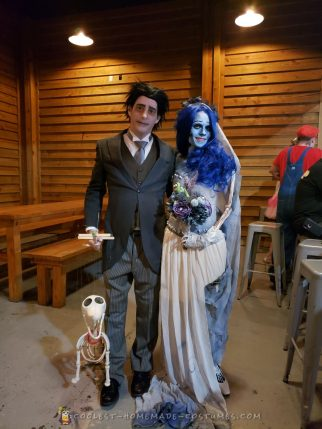 Corpse Bride and Scraps the skeleton dog