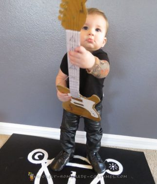 Tour ready 10-month old miniature frontman, Brendon Urie, from Panic! at the Disco
