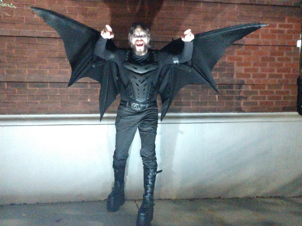Vampire with articulated wings