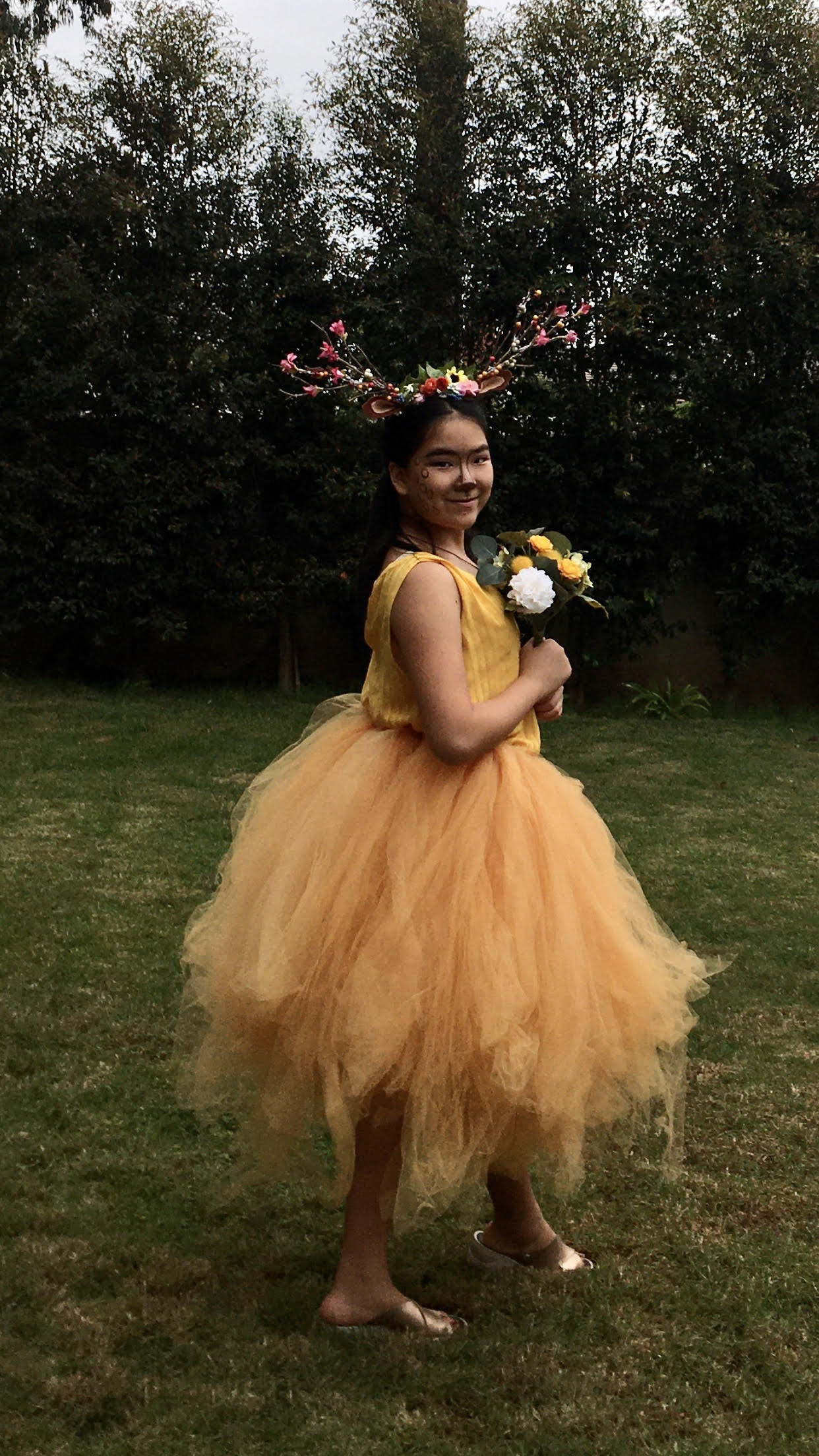 Beautiful Bambi Deer Costume Made by a 12-Year-Old Girl