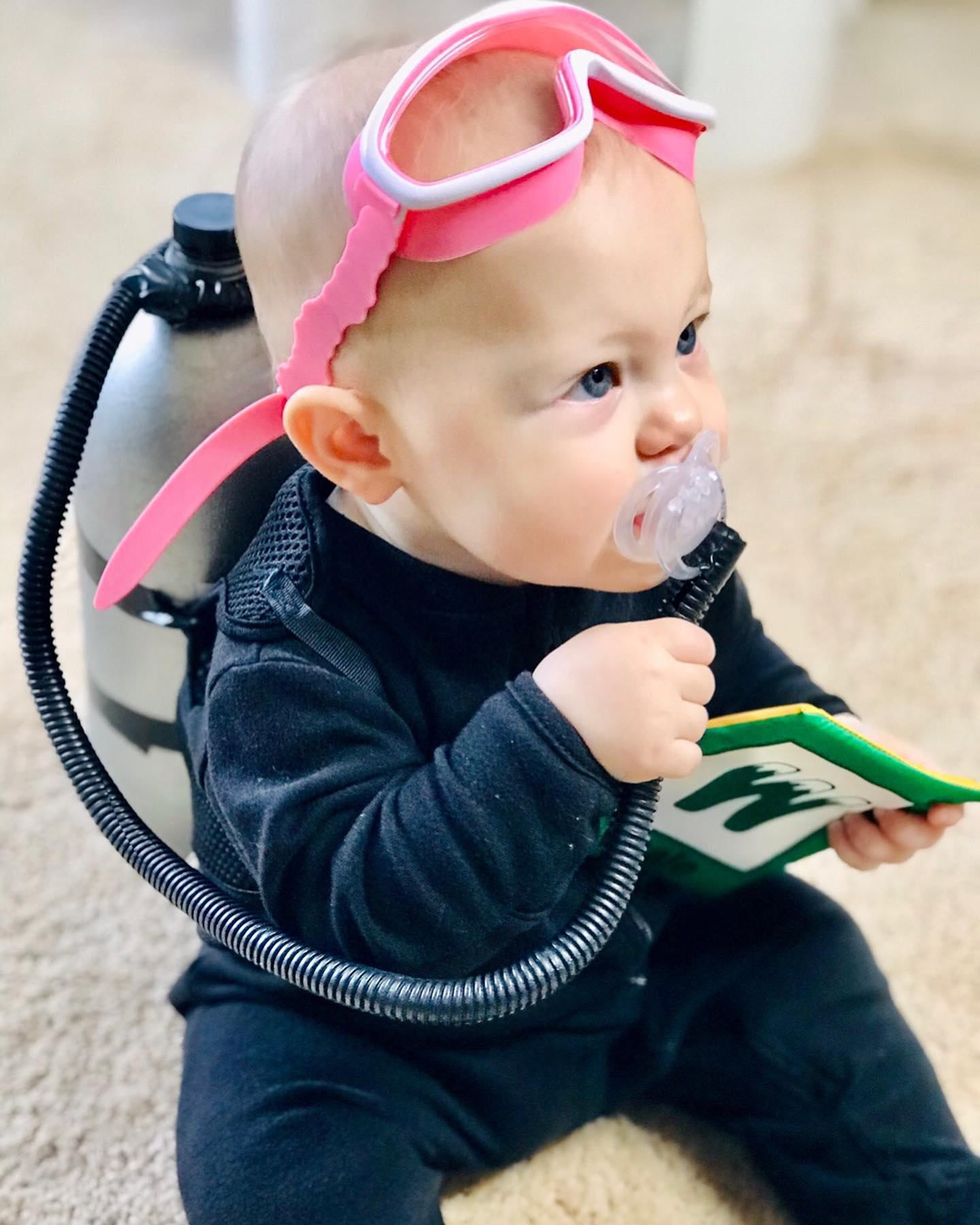 """Cutest Lil' SCUBA diver: """"Charley the Chum Chaser"""""""