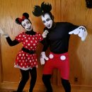 Scary Mickey and Minnie Mouse