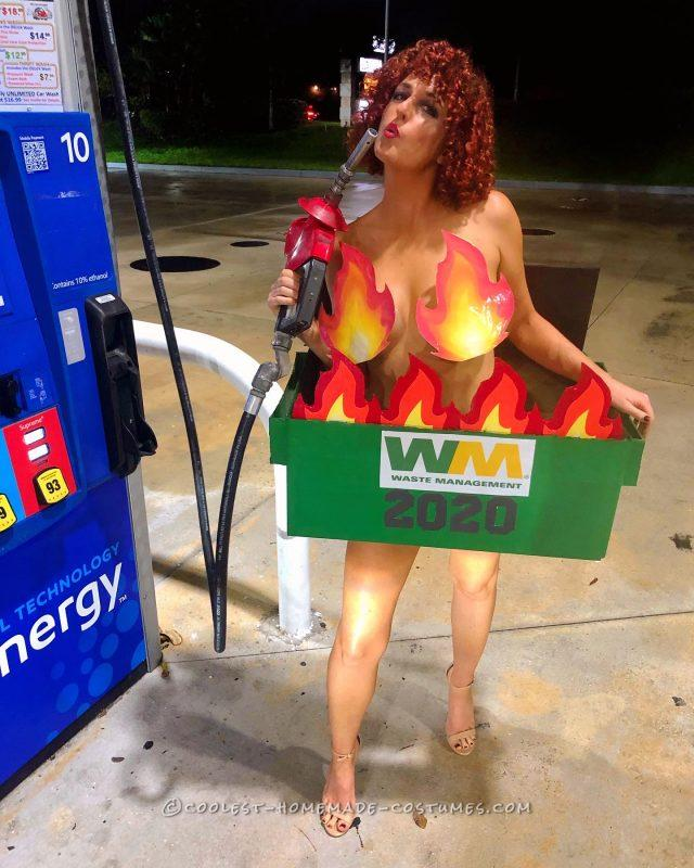 2020 Sexy Dumpster Fire Costume