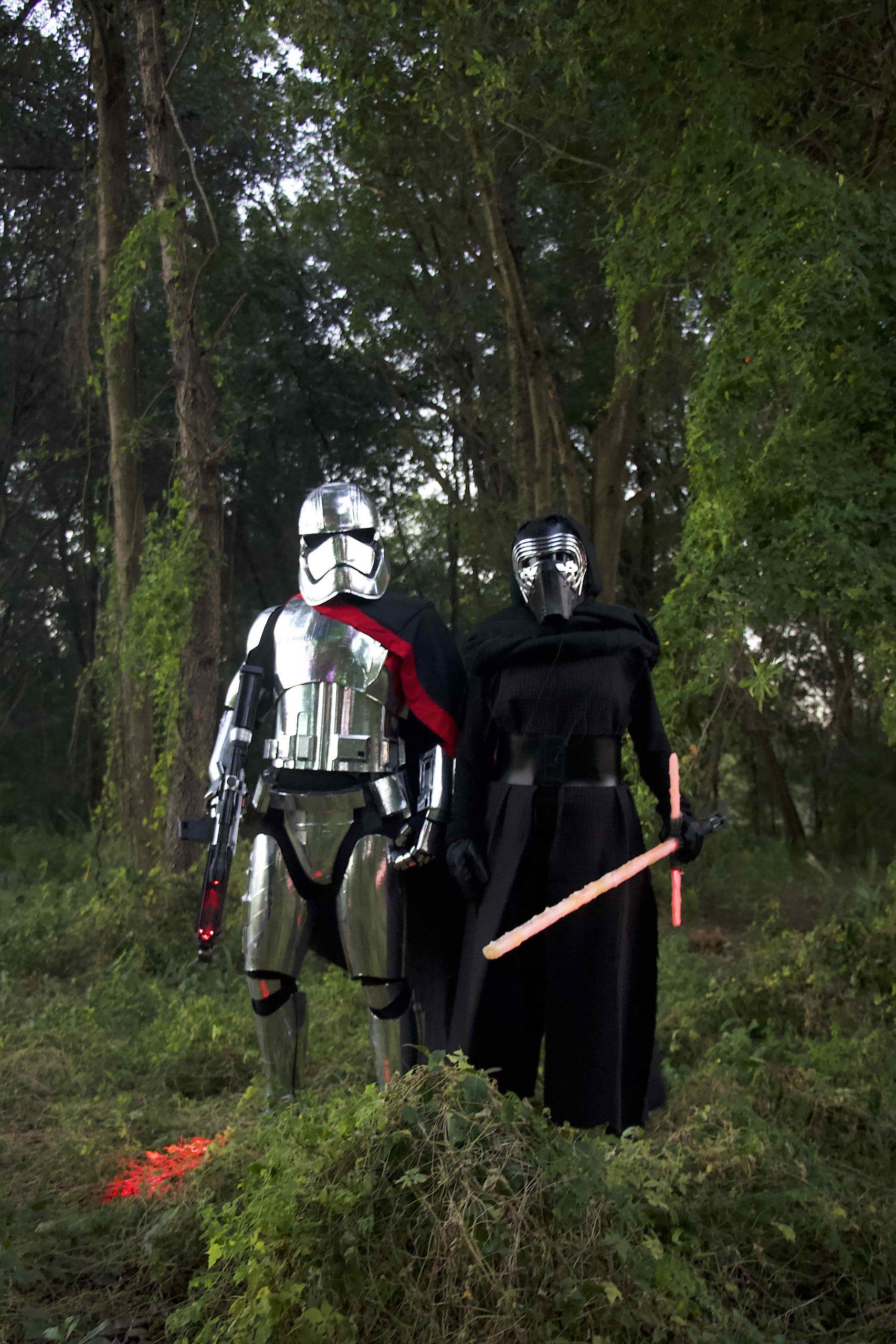 DIY Captain Phasma Armor and Kylo Ren costume