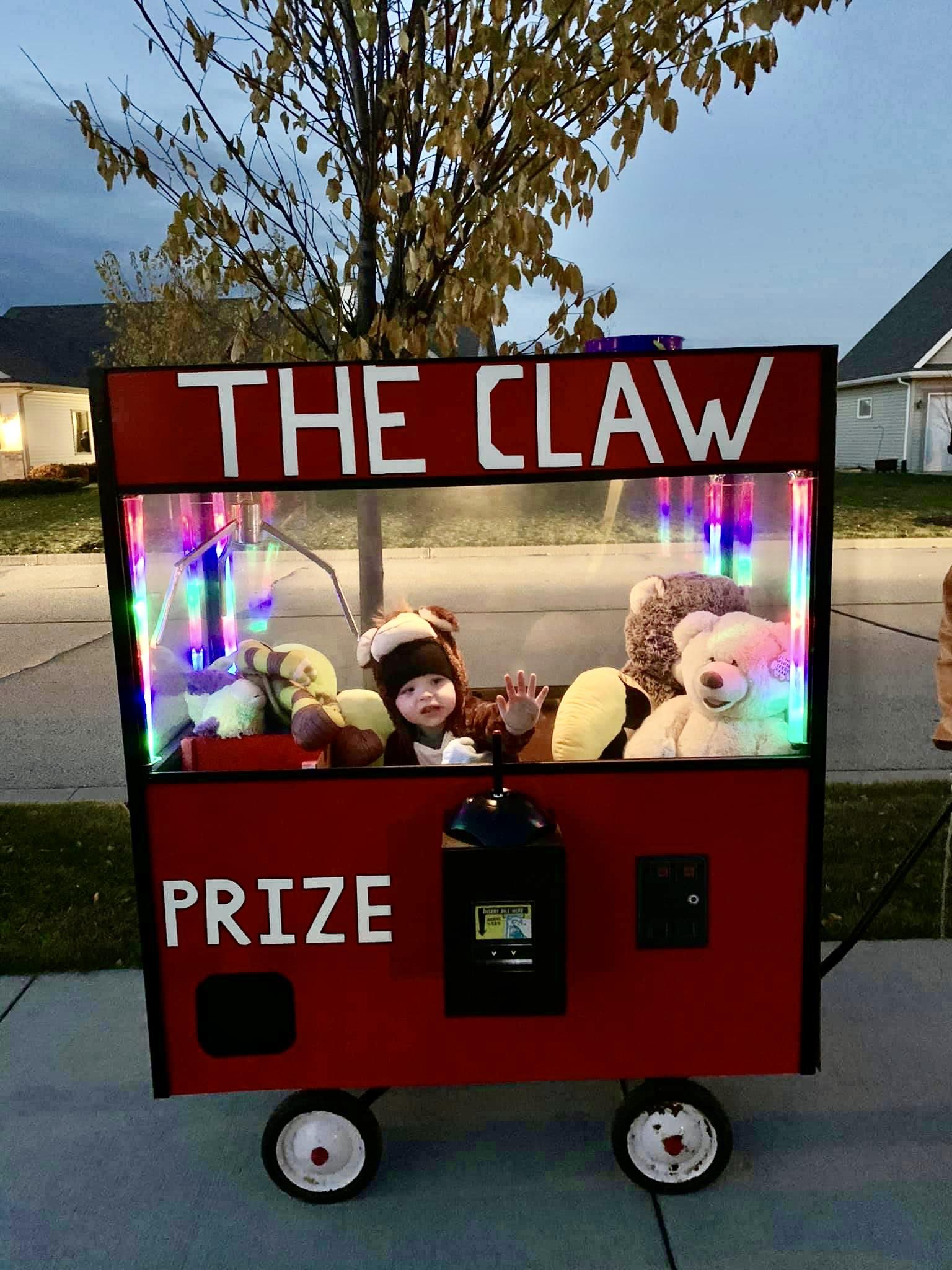 Monkey in a Claw Machine Costume