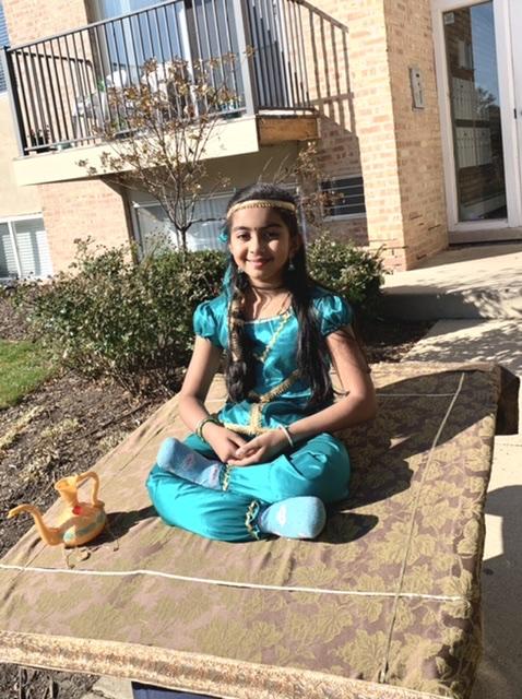 Jasmine in flying magic carpet