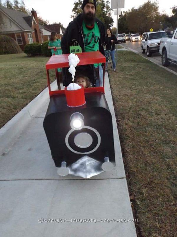 Coolest Train Engineer Stroller Halloween Costume