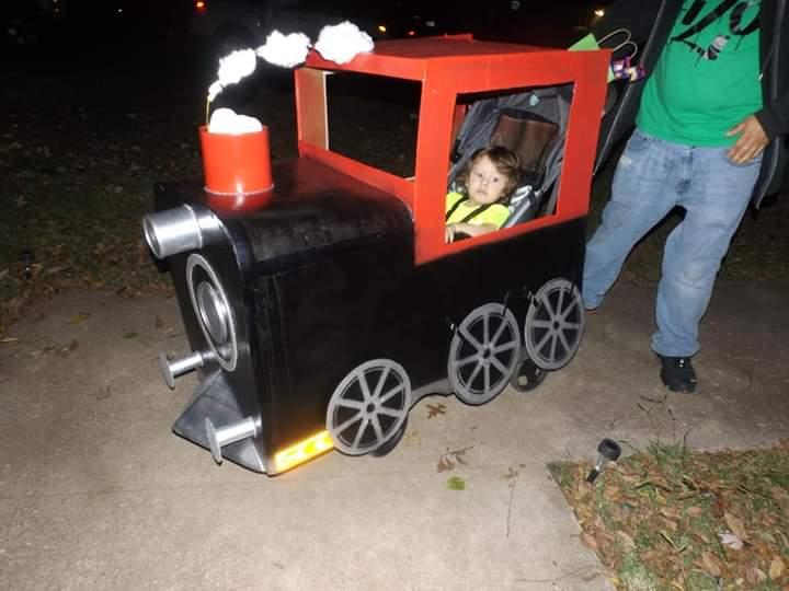 Coolest Train Engineer Stroller Costume