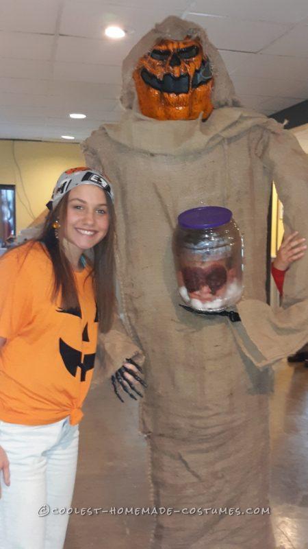 Coolest pumpkin head costume