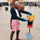 Bullwinkle cosplays Football player, Fortune Teller and Magician