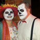 """Colourful """"Day of the Dead"""" inspired couples Halloween costumes"""