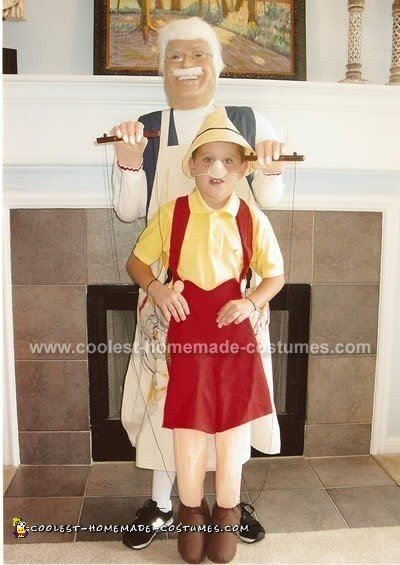 Pinocchio and Geppetto Home Made Costume